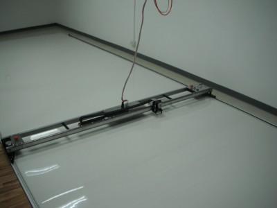 PT-108 instaleld on 32' floor mounted track