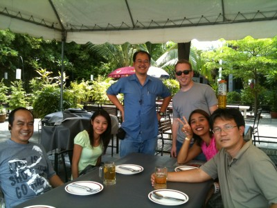 """A """"Send Off"""" beer and lunch with GMAT team!"""