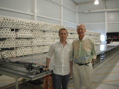 Tom Carlson and Rolly Tasker by PT-72 plotter/cutter & 19mtr long vac table - May 2010