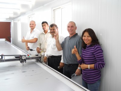 AIS team gives a big thumbs up at the end of the a successful install!