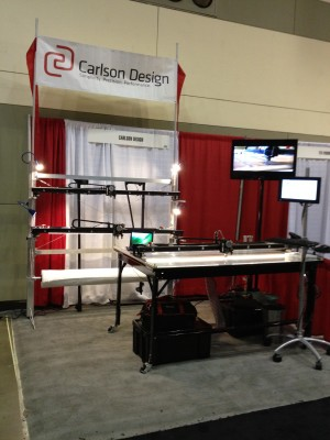 2011 Booth at IFAI -- features all 3 models -- Studio, Classic, Pro -- top to bottom.