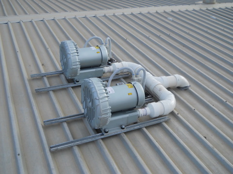 Carlson Design 7 Blowers On Roof