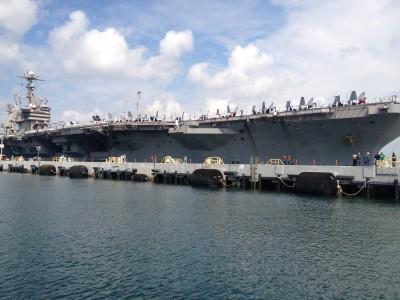 John C Stennis - CVN 74 - pulling into Pearl Harbor, Hawaii