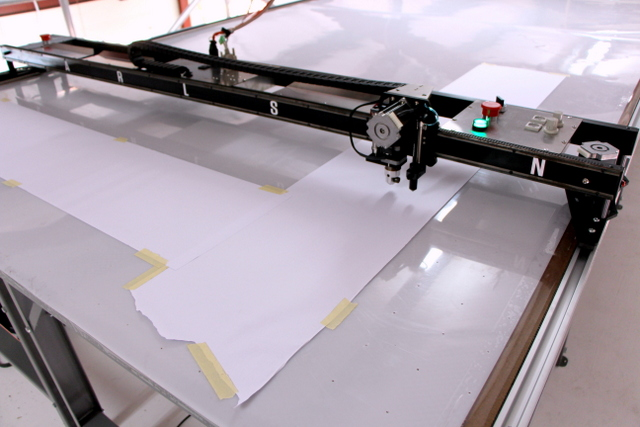 Once the plotter/cutter is installed, it must be calibrated.  In the configure tab, draw and measure a line in the X and Y axis.