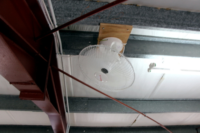 Fans in the loft help keep temperatures cool in the summer.