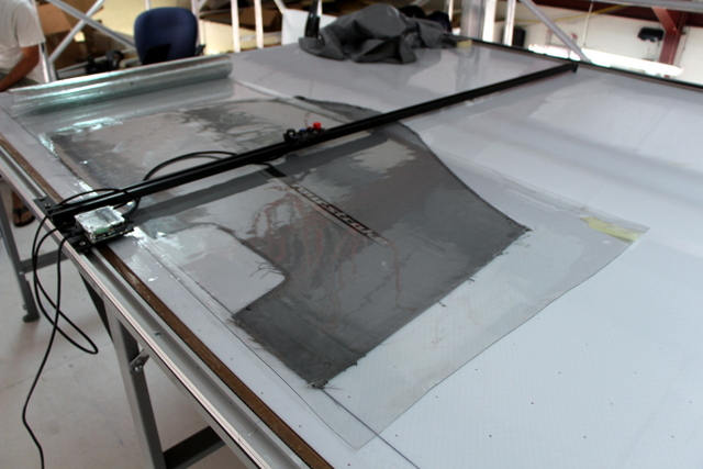Digitizing a Yamaha motor cover with the T-Bar Pattern Digitizer.