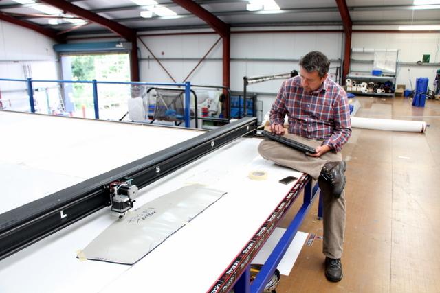 Gary is demonstrating key board digitizing on an unusual custom part