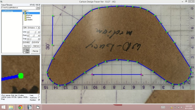 We digitized one of their medium collars using CD2D, Carlson Design's proprietary 2D photo digitizing software.  This allows you to manually trace and scale any pattern you can photograph.