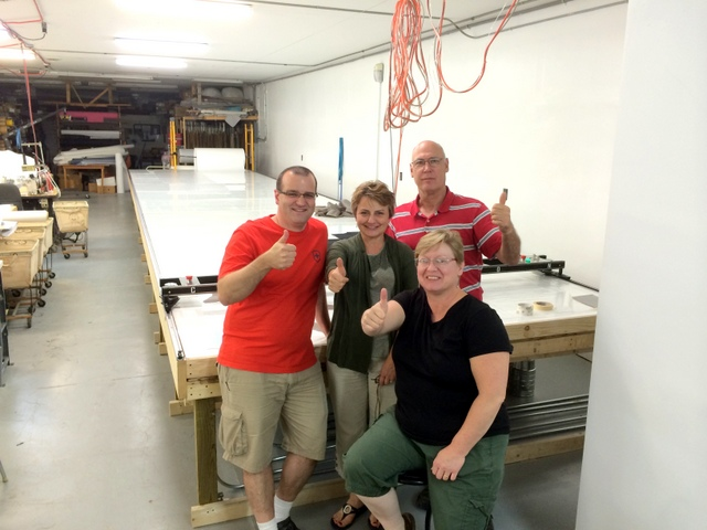 Thumbs Up from the TLC Team - Lonnie, Carol, Todd, and their cutter operator Sue