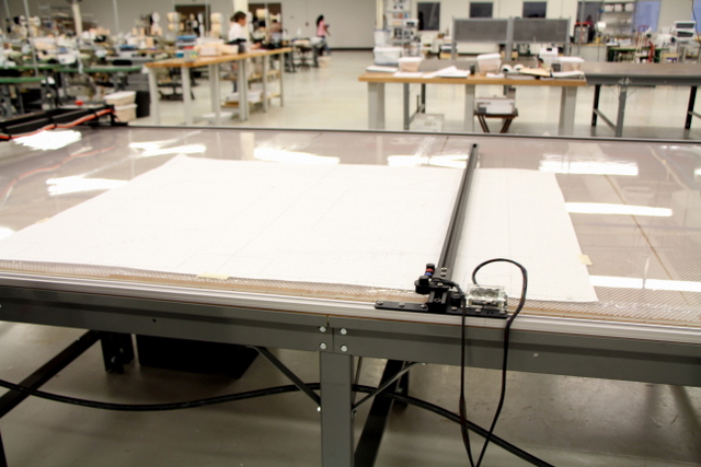 The T-Bar Digitizer rides in the same track as the Plotter/Cutter, giving them a digitizing bed the size of the table.  Before digitizing, it is important to secure your pattern.