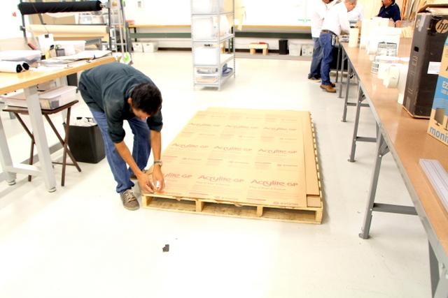 Unpacking their cutting surface.