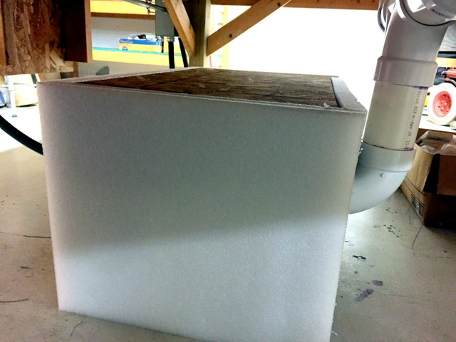 You can reduce blower noise by building an insulated box around the blower.  A skirt around the edge of the table can also help.