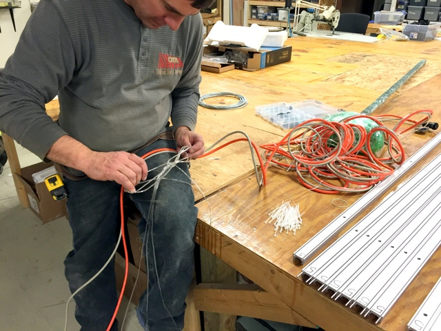 """Ziptie control, air, and power cables together.  We recommend placing a zip tie every 18""""."""