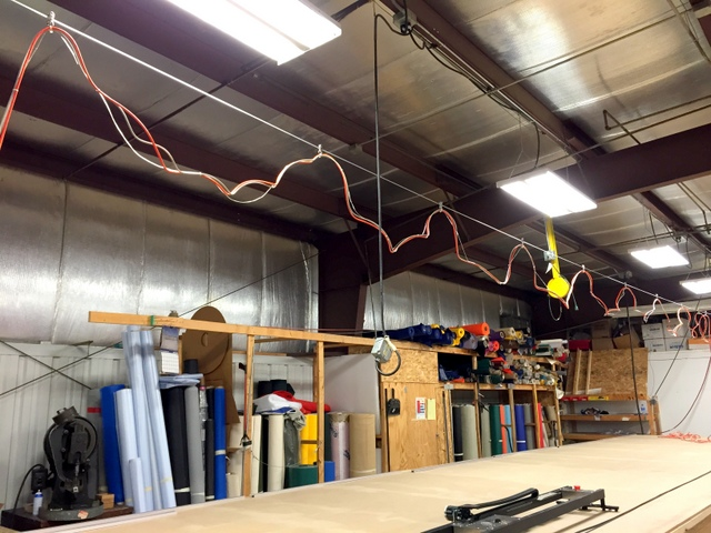 When possible, we recommend securing the cable every 4', with about a 2' drape.