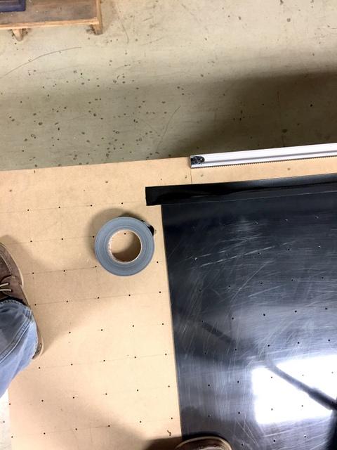 Tape all edges to prevent leaks.