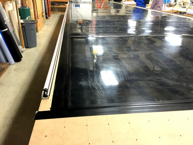 Their black cutting surface looks great secured with black masking tape.