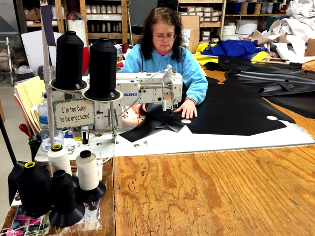 The true test of a good cut is the finished product.  We sewed all the pieces together and confirmed everything looks good before cutting a full table.