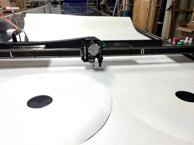 It's easy to cut foam inserts to match their vinyl covers.