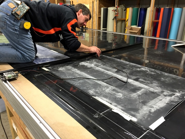 Digitizing is easy, allowing anyone in the shop to move physical patterns into the computer.  There is a button for digitizing plot and cut lines.
