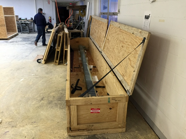 Time to unpack the Plotter/Cutter from its custom crate.  The Plotter/Cutter will be used as a jig to set side B.