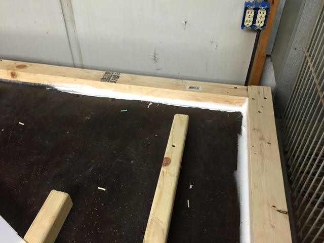 Caulk the internal edges to prevent vacuum leaks.  Before screwing the top down, be sure to take a picture of your spacer placement.