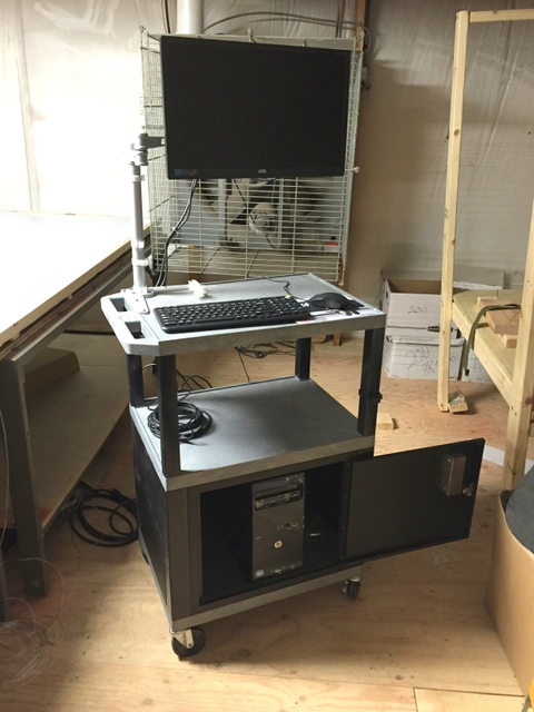 Assemble operator's workstation with monitor.