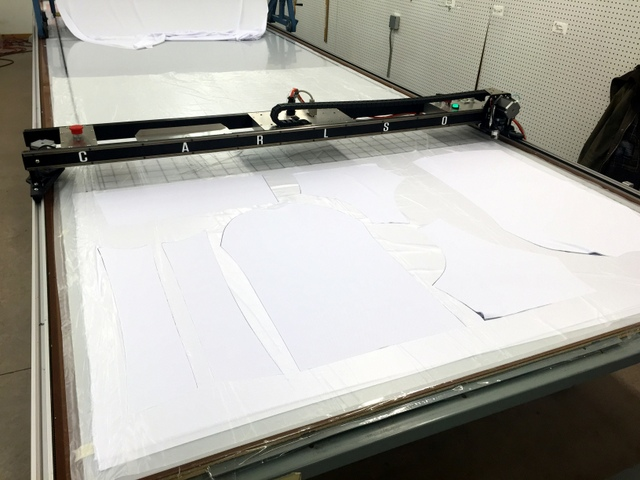 Cutting nest jerseys in one, two, three, and five ply.