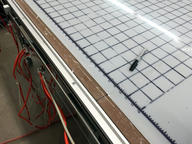 We also used the Plotter to add a tape measure to both edges of the table.