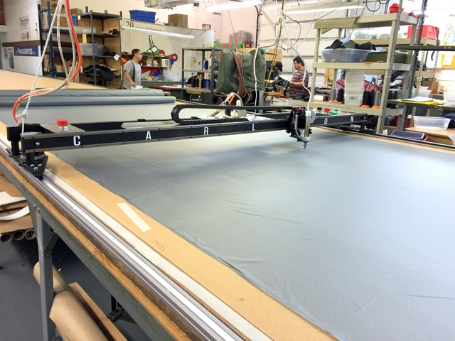 Our new captive track system allows the Plotter/Cutter to Plot, Cut, and Traverse at much higher speeds without stalling or racking-out-of-square.