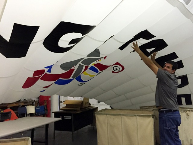 This canopy was made specially for an up coming trade show.  What a great looking product!