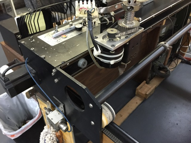 """Pictured: Strong's Pro-78"""" Plotter/Cutter hours before retirement.  Originally built in 1994, they can """"count on one hand how many times it let them down in 20 years""""."""