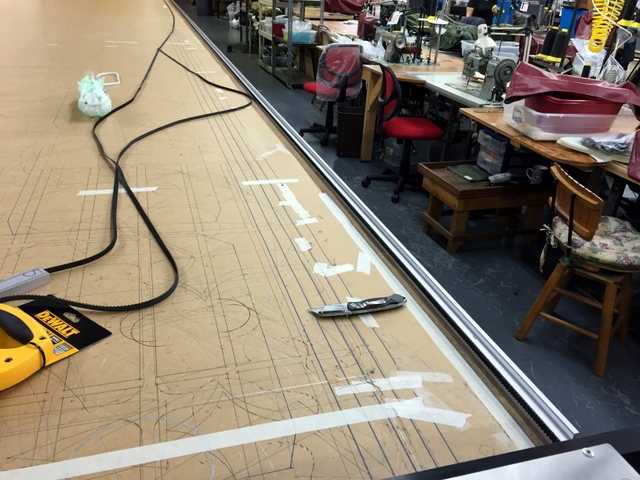 Attached the track belt to track side A with double sided tape.  When attaching the belt, apply with even pressure.