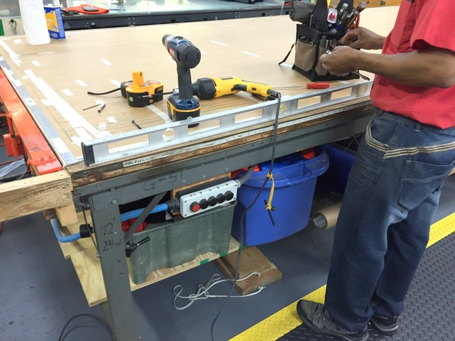 Before installing the track, confirm the table is level.  The more level the table, the faster, smoother, and more reliably your Plotter/Cutter will run.