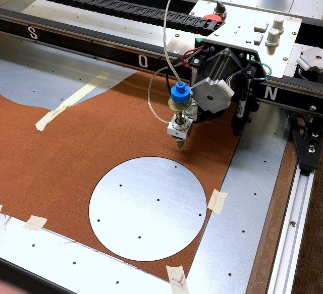 Complex patterns like a circle are very difficult to cut by hand. The Plotter/Cutter is the ultimate measuring machine, cutting the same perfect circle every time.