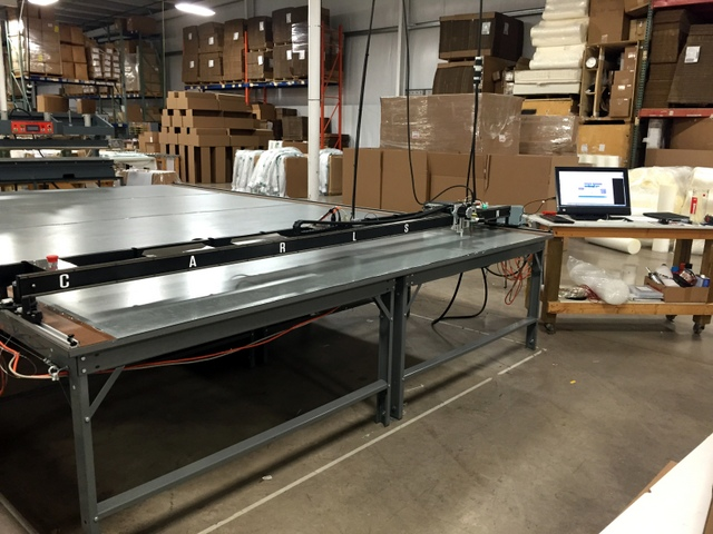 This great looking setup is designed for all-day production cutting.
