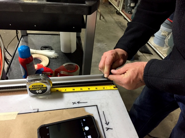 Adjusting the track stops to manually square the system is simple and intuitive.