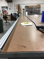 Track attached to the table tops and drive belt adhered.